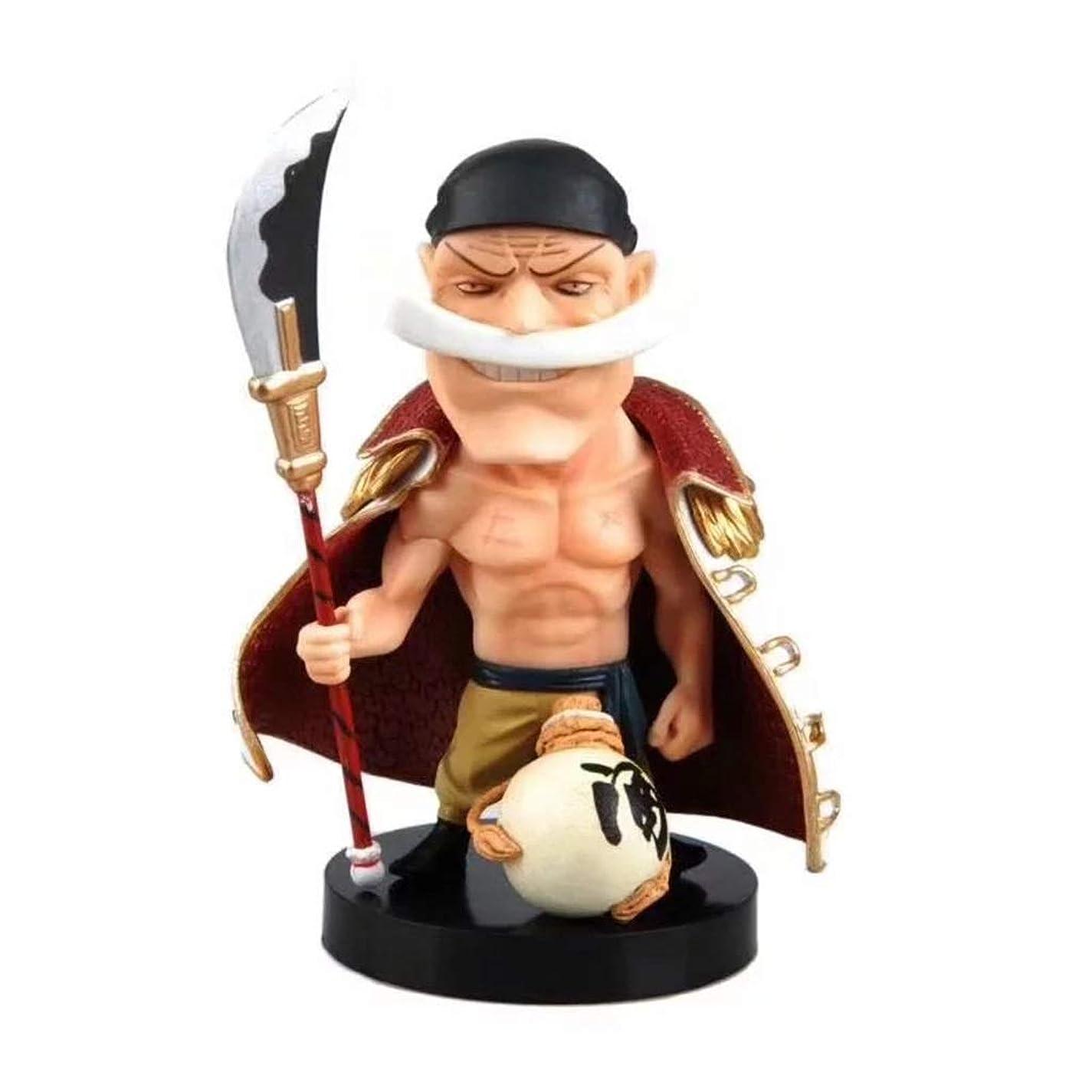 キャラバンメイトパンフレット揺れる頭白ひげ、PVCのおもちゃコレクション像のキャラクターの工芸品、像のおもちゃモデルの装飾、アニメのワンピースモデル(15cm) SHWSM