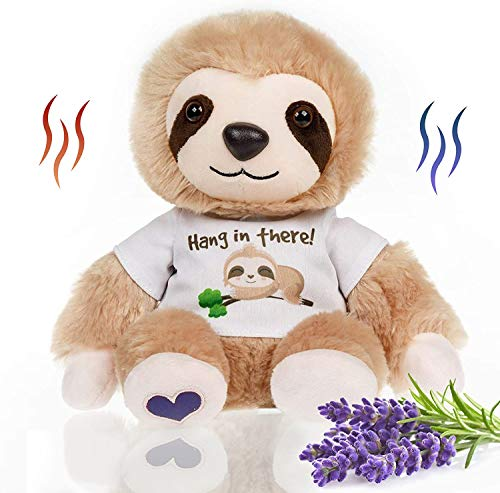 Stuffed Sloth - Heated Microwavable Therapeutic Plush Stuffed Animal with French Lavender Scent