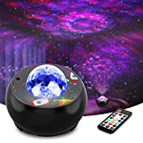 LED Galaxy Star Projector Light - Ocean Wave Night Lights for Bedroom, Room Decor and Party, with Remote Control, Music Player and Timer, Soothing Sleep Lamp and Christmas Gifts for Kids and Adults