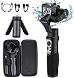Gopro Gimbal Stabilizer 3-Axis Action Camera Gimbal Stabilizer for Gopro Hero 8/7/6/5/4/3 DJI OSMO Action Insta360 One R Sony RX0 SJ YI Cam Osmo Wireless Control Splash Proof, Hohem iSteady Pro3