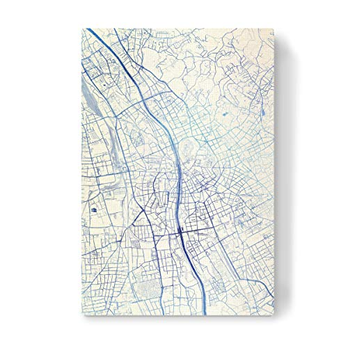 artboxONE Leinwand 60x40 cm Städte Graz O?sterreich Blue Infusion Map II von Makadi Atatu