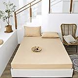 haiba Sábana bajera o fundas de almohada de franela de algodón cepillado, térmica, suave y acogedora, 120 x 200 + 28 cm