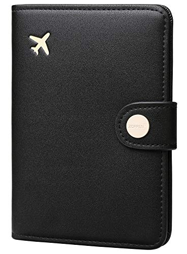 Zoppen Rfid Blocking Travel Passport Holder Cover Slim Id Card Case, #1 Black