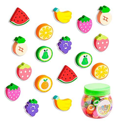 Gmas de Borrar, 50 gomas de borrar de frutas para niños para el hogar, la oficina y la escuela
