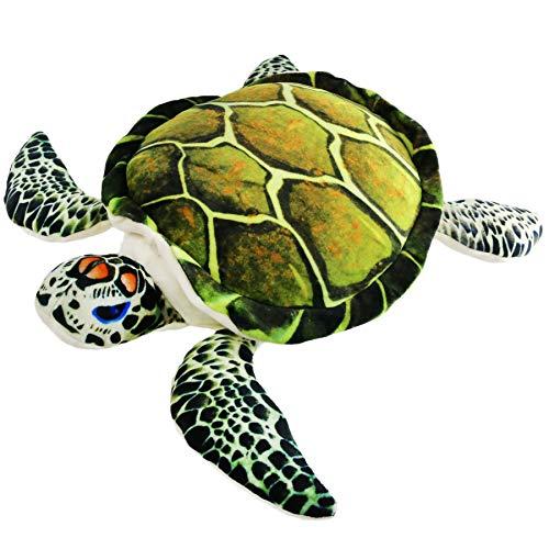 Athoinsu Realistic Stuffed Sea Turtle Soft Plush Toy Ocean Life Tortoise Throw Pillow Birthday for Toddler Kids, 18''