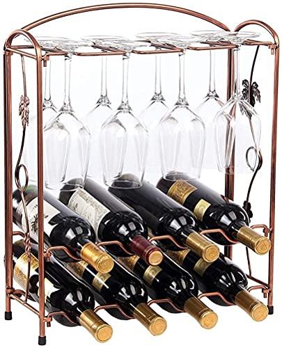 NYCUABT Titular de vidrieras de Vino Rack de Vino Hierro Creativo Europeo Taza de Moda Titular de la Taza de Almacenamiento de Copa Estante