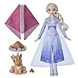 Disney Frozen 2 Elsa's Campfire Friend, Elsa Doll with Dress and Long Blonde Hair, Baby Reindeer, Fashion Doll Accessories, Toy for Kids 3 Years Old and Up