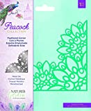 Nature's Garden NG-Pea-MD-FCOR Peacock Collection-Metal Die-Feathered Corner, Silver