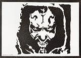 Darth Maul Poster STAR WARS Plakat Handmade Graffiti Street