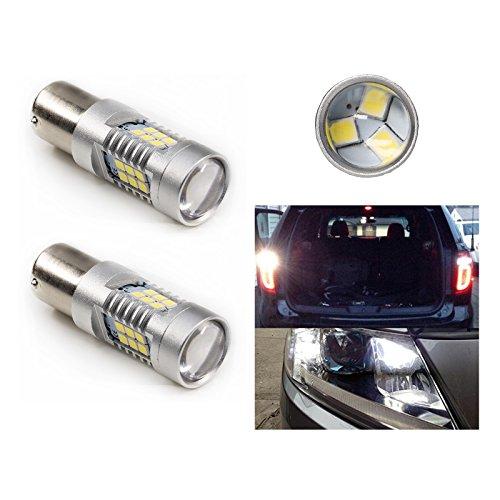 PA 2 x 21 SMD 2835 LED BA15S 1156 P21 W 10–30 V feux stop inversée ampoule (Blanc)
