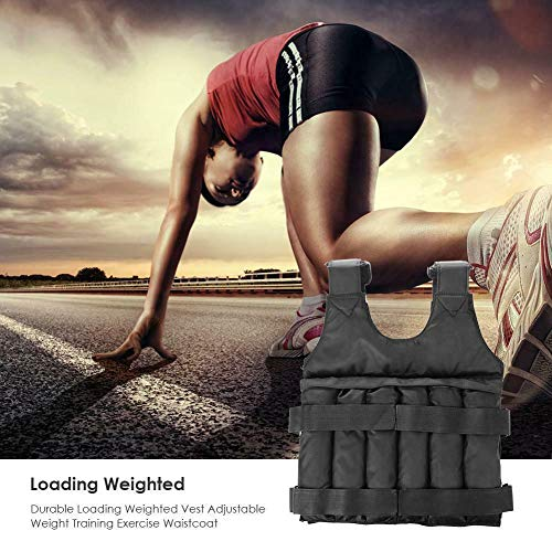 DaJun Exercise Weighted Vest (max Loading: 50kg / 110lbs.) - Breathable Adjustable Weighted Vest Workout Equipment Strength Training Jacket for Men, Women, Kids
