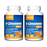 Jarrow Formulas d-Limonene Natural Orange Peel Oil for Occasional Esophageal and Gastric Discomfot Supports Phase I and II Detoxifying Enzyme Systems 1000 Milligrams - 60 Softgels (Pack of 2)