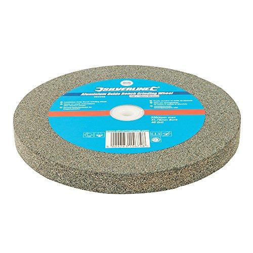 Silverline 965366 slijpsteen van aluminiumoxide, voor slijpmachine, grijs
