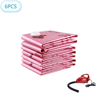 LXDDP Sacs Rangement sous viréutilisables 6PCS, Sacs en Plastique Compression à Double Fermeture éclair Haute résistance p...