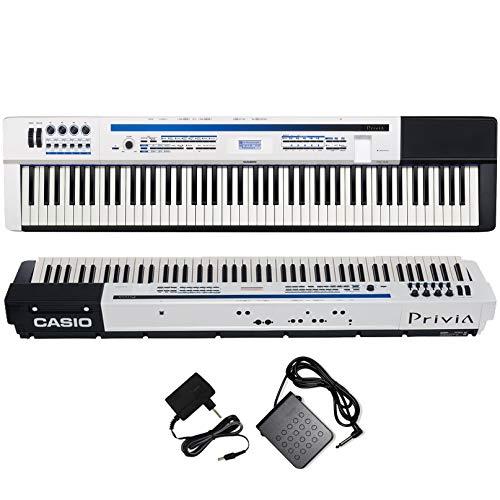 Piano Digital Casio Privia Px5s Branco Com Fonte + Pedal Sustain