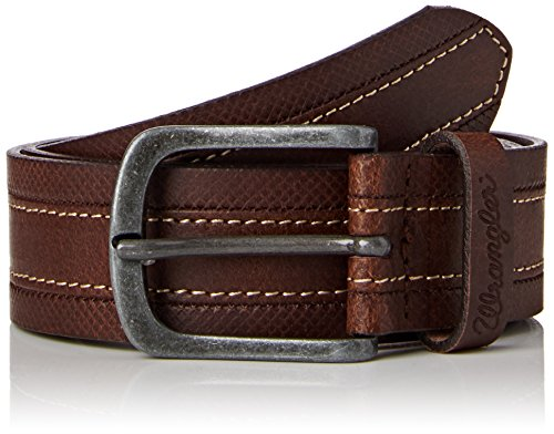Wrangler Layered Stitch Ceinture, Marron (Cognac), (Taille Fabricant: 100 cm) Homme