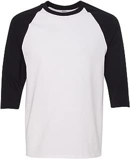 mens Heavy Cotton ¾-Sleeve Raglan (G570)