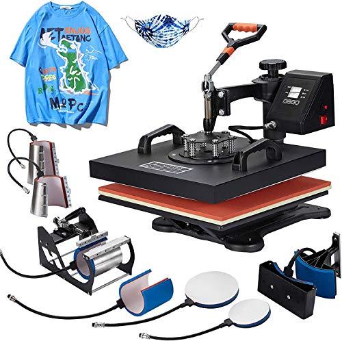 Homedex 15X15 Inch Heat Press 6 in 1 Heat Press Machine with Slide Out Drawer,Digital...