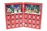 Clever Creations - Calendario dell'Avvento a Forma di Libro - Vivace Decorazione Natalizia con Babbo Natale - in Legno Robusto - 21 x 9 x 30,5 cm