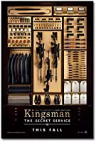Kingsman Secret Service Movie Art Poster Canvas Painting Photo Living Room Home Decor Gift Canvas - 50X70Cm Unframed