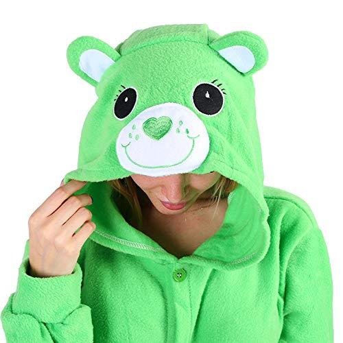 Care Bear, Unisex-Tieroverall/Kapuzenkostüm, Pyjama/Schlafkleidung, Lucky Bear, M(160CM-170CM)