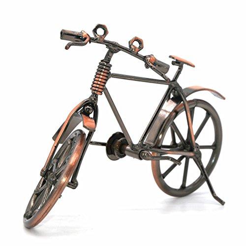 Escultura de hierro hecha a mano, diseño de motocicleta, 19*6.5*12(bicycle)