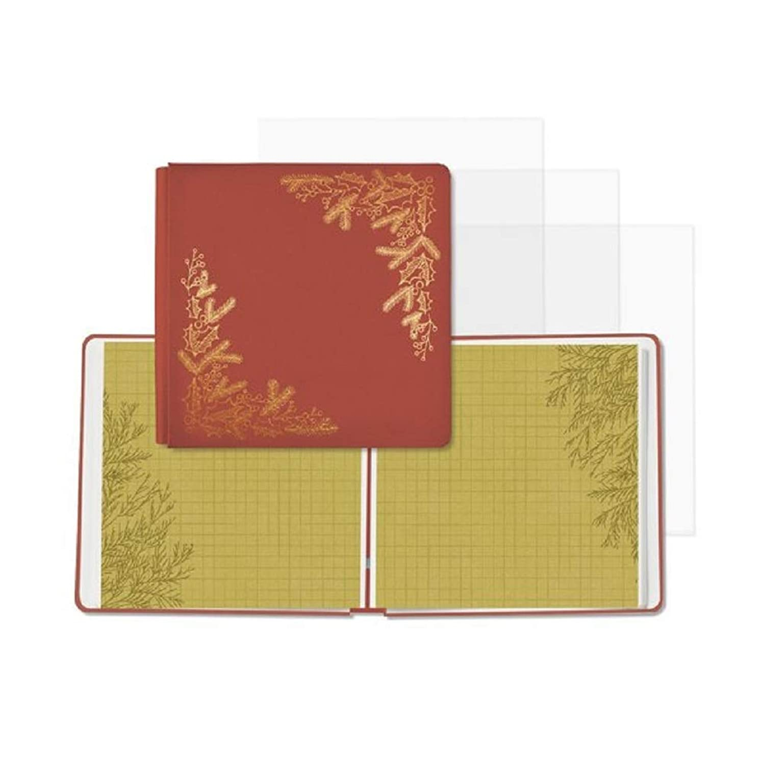 Creative Memories Season's Greetings 12x12 Fast2Fab Foiled Christmas Album 16/ Predesigned Pages & 16/ Page Protectors