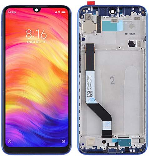 i-Repair® OEM Pantalla LCD de 6,3 pulgadas, repuesto para Xiaomi Redmi Note 7 Blue/Pantalla táctil Cristal Completo con Marco/Frame (Redmi Note 7, Azul)