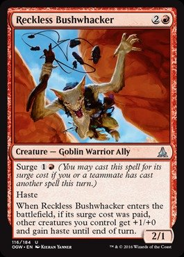 Magic The Gathering - Reckless Bushwhacker (116/184) - Oath of The Gatewatch
