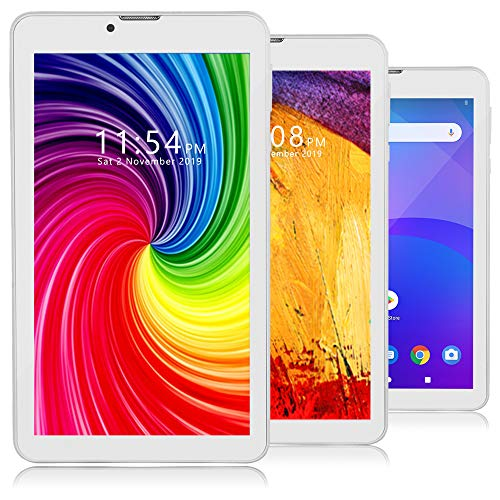 Indigi Unlocked 4G LTE 7-inch Android 9 Pie Smartphone & TabletPC, QuadCore CPU 2GB RAM/16GB ROM (+ Dual SIM Slots) (White)