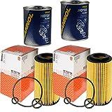 2x Original MAHLE/KNECHT Ölfilter OX 153/7D2 + 2x SCT Motor Flush Motorspülung
