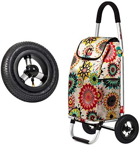Yuany Einkaufstrolley,Einkaufswagen klappbarer tragbarer Einkaufswagen kletternder Treppenwagen Autoanhänger Kleiner Wagen Isolierwagen