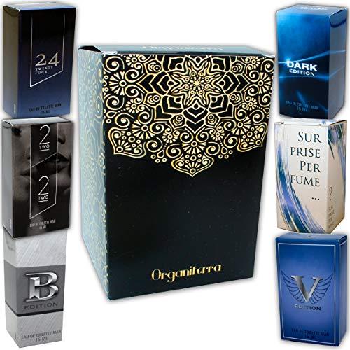 buenos comparativa Un juego de 6 perfumes para hombre, cada uno de 15 ml, en un solo paquete con una botella de spray.  (Aude … y opiniones de 2021