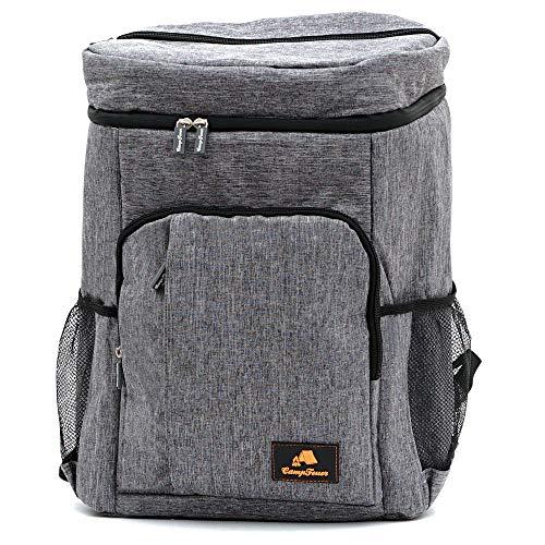 CampFeuer Kühlrucksack | grau | 20 Liter Isoliertasche für BBQ, Camping, Strand und Outdoor Aktivitäten