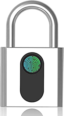 Fingerprint Padlock, Bluetooth Locker, IP67 Real Waterproof, MEGAFEIS Biometric Lock with Keyless for Outdoor Door, Gym, Spor