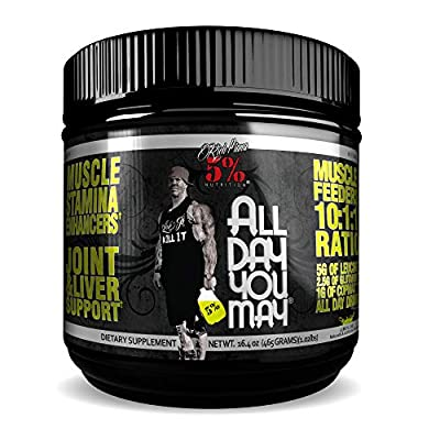 5% Nutrition 465 g Lemon Lime All Day You May Amino Acids, PER1001/462/105