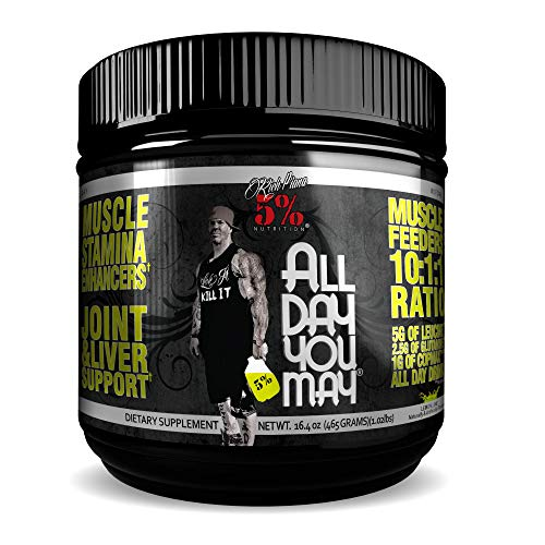 5% Nutrition - Rich Piana All Day you May (30 sers) Lemon Lime Pack zonder statief, 465 g