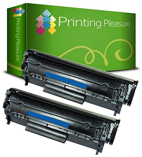 Printing Pleasure 2 Toner Compatibili Q2612A FX-10 703 Cartuccia Laser per HP LaserJet 1010 1012 1015 1018 1020 1022 3010 3015 3020 3030 3050 Canon LBP2900 LBP2900i LBP3000 MF4120 - Nero, Alta Resa