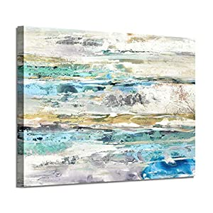 Abstract Picture Canvas Wall Art: Sea & Sky Ho...