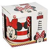 Minnie Mouse Tazza ceramica 325 ml in confezione regalo Stripes' (78203), non applica, nero