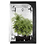 GA Grow Tent 120X120X200 CM C-Series Reflective Mylar Hydroponic Grow Tent with Waterproof Floor Tray for Indoor Plant Growing Greenhouse Tent for Christmas 4x4 48'x48'x80' Inch (120x120x200 CM)