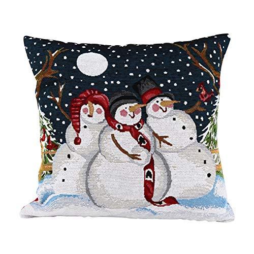 Cojines 40x40cm 3x LED iluminación navidad cojines decorativos invierno motivos foto almohada