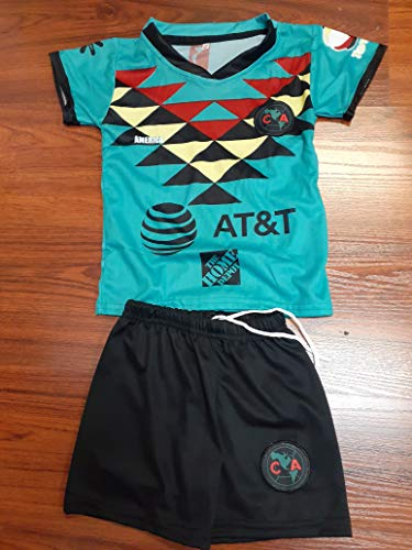 New! Club America Youth Replica Retro Jersey and Short Set (14)