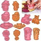 6 set di formine per biscotti di Halloween, formine per biscotti da forno, adatte per pasticceria di Halloween, non facili da danneggiare le mani.