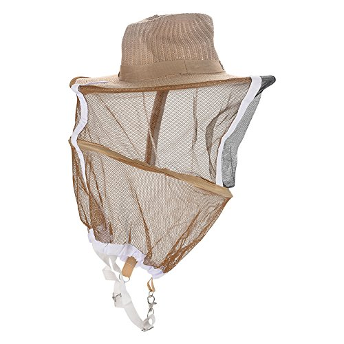 nobrands Sombrero de Apicultor - Sombrero de Apicultor de Apicultura Anti Mosquito Bee Insect Bug Face Head Velo para Guardia de jardín
