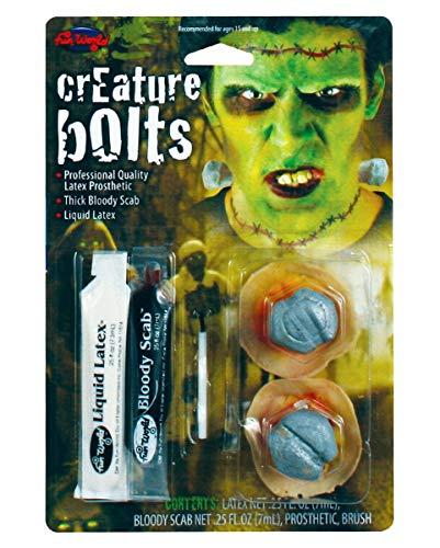 Horror-Shop Frankenstein Schrauben Make Up Kit