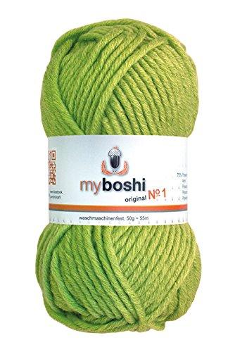 myboshi - Filo per Uncinetto/Maglia, Misto Lana, Lime