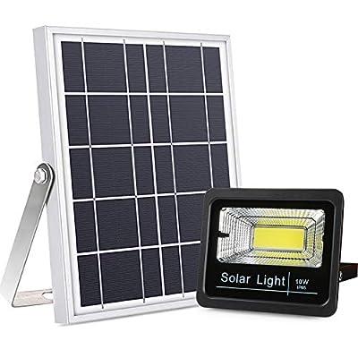 Updated Version Solar Flood Lights Dusk to Dawn, 800 Lumen Multi Working Modes Remote Control Solar Powered Security Light Outdoor Waterproof for Yard, Pool, Barn, Street, Driveway, Deck, Farm, Patio