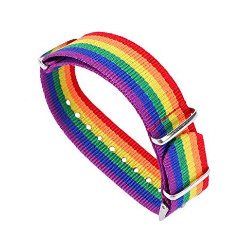 Holibanna Pulsera del Arco Iris LGBT Pulsera Joyería Lesbianas Pareja Banda Gays Orgullo Accesorio Bisexuales Transgénero Decoración
