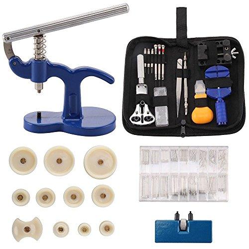 OUTAD Uhrmacherwerkzeug 409tlg Reparatur Uhrwerkzeug Uhrenwerkzeug Werkzeug Tasche